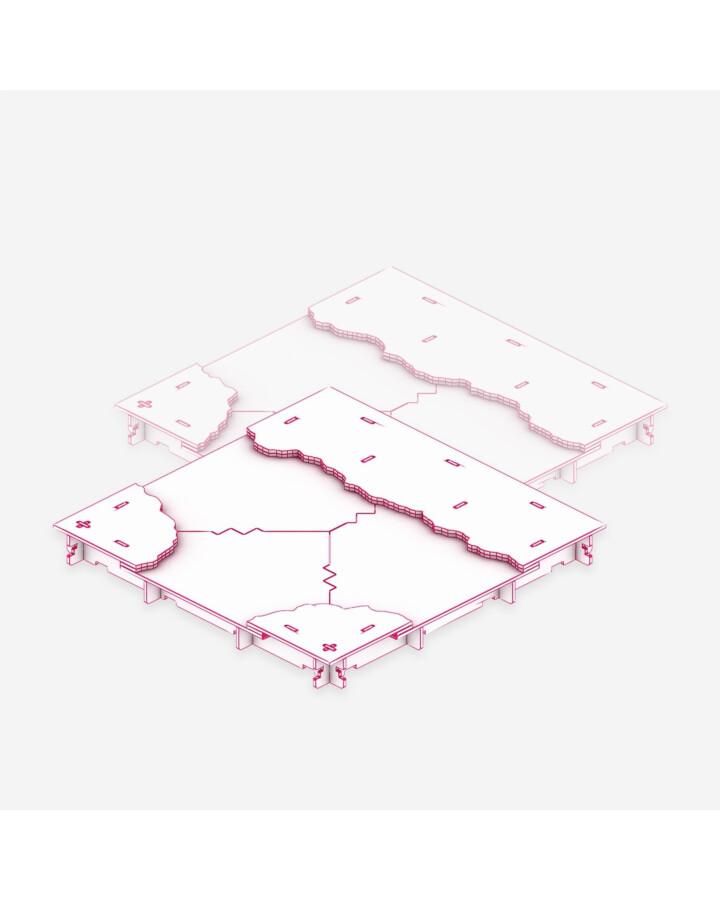 River Fork TerrainTile [x2] - TerrainTiles