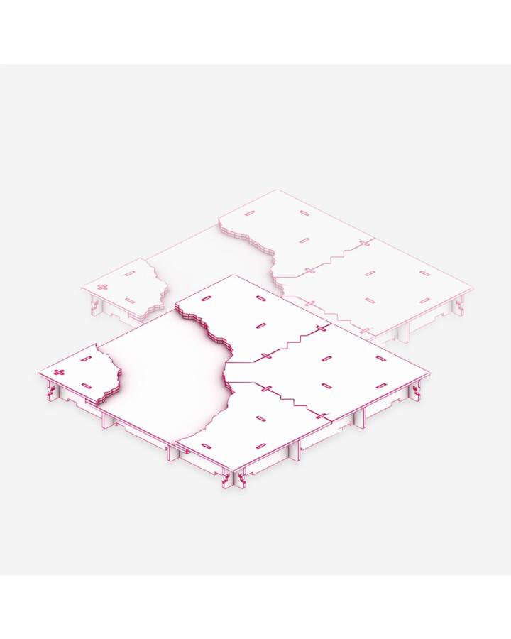 River Corner Tile [x2] - TerrainTiles